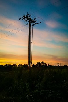 Sunset electricity | digital deconstruction