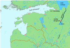 Lake Ladoga, Russia | ... on which St Petersburg was built), Lake Ladoga and the River Volkhov