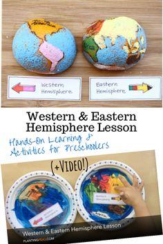 Western & Eastern Hemisphere: Hands-On Lesson & Activities for Preschoolers (PlantingPeas.com)