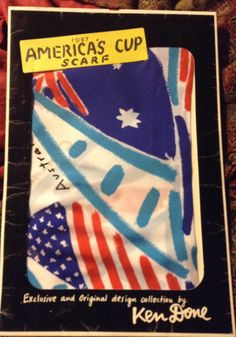 1987 America's Cup scarf by Ken Done by BeeOdee on Etsy, $17.00