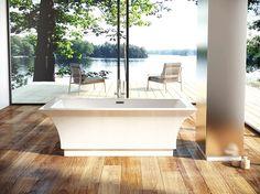 Beautiful, classical shape: bathtub Onyx by mirolin.