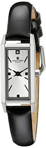 Women's Wrist Watches - CharlesHubert Paris Womens 6911W Premium Collection Analog Display Japanese Quartz Black Watch * For more information, visit image link.