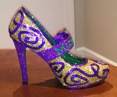 Confessions of a glitter addict: Purple, Green and Gold Buckle Shoe