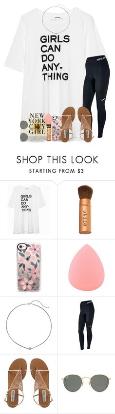 trying new additions to sets, thoughts? by legitmaddywill ❤ liked on Polyvore featuring Stila, Casetify, Zodaca, Dogeared, NIKE and Ray-Ban