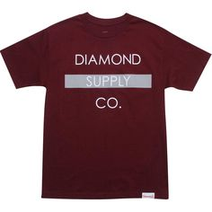Diamond Supply Co Bar Tee (burgundy) BAR-TBUR - $30.00