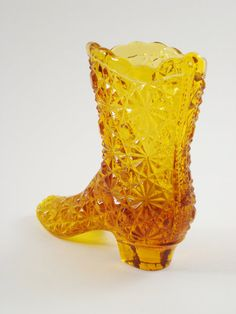 Fenton Glass Boot Colonial Daisy and Button by AlegriaCollection, $13.00