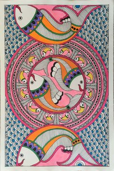 Madhubani Paintings Peacock, Kalamkari Painting, Madhubani Art, Indian Art Paintings, Gond Painting, Mural Painting, Mural Art, Fabric Painting, Folk Art Flowers