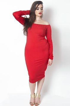 Rebdolls Fall for You Over the Shoulder Midi Dress barbara ferreira knox
