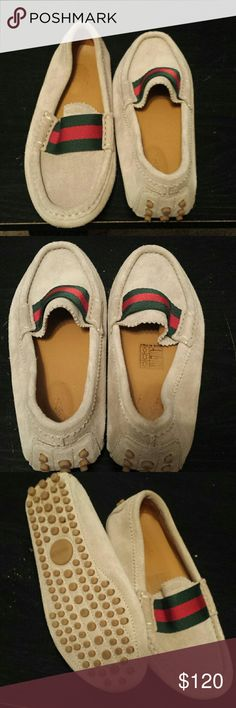 Gucci shoes Classic stylish suade loafers for boys. Great condition. They can rock them with any special or fancy occasions. Gucci size 28 which is size 11... retails for $210 Gucci  Shoes