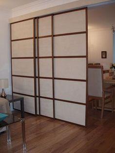 DIY Sliding Door Room Divider
