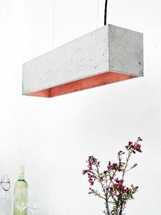 La suspension luminaire en béton s'est inclut dernièrement dans le style résolument contemporain ; et particulièrement le style industriel.