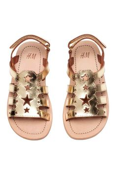 8947e40ba1b Leather sandals - Gold - Kids