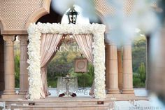 blush wedding ceremony ~ chuppah, wedding canopy