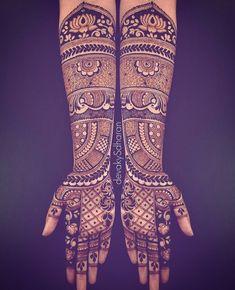 Pinterest: @pawank90 Dulhan Mehndi Designs, Wedding Mehndi Designs, Best Mehndi Designs, Mehndi Designs For Hands, Henna Mehndi, Hand Henna, Mehndi Digain, Henna Art, Mehndi Design Pictures