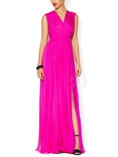 Chiffon Ruched Gown by Badgley Mischka at Gilt