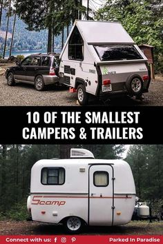 Variety of floor plans with and with our bathrooms. Glamp in style in a popup or A frame. Amazing storage ideas and camping hacks. The best small campers and trailers for adventure. Great options for overlanding travel and more. Scamp Camper, Scamp Trailer, Small Camper Trailers, Small Travel Trailers, Overland Trailer, Small Campers, Truck Tent, Truck Camper, Adventure Gear