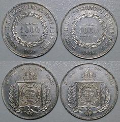 Moeda de prata brasileira de 1866 - Brasil Império