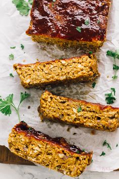 This Vegan Meatloaf is the perfect quick and easy dinner recipe! It's made with chickpeas & lentils, tastes delicious, is gluten free and healthy!