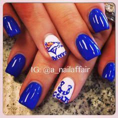 Denver Broncos & Indianapolis Colts by a_nailaffair  #nail #nails #nailart