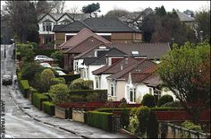 Residential street in Bearsden...love the hedges.