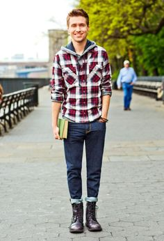 Rugged refined - I'm not sure about the bottom half (don't really like close-fitting jeans on guys), but the top looks great.
