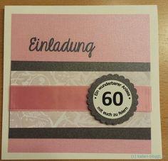 Letztens Hat Mich Meine Schwiegermutter Gebeten 20 Einladungen Zum 60.  Geburtstag Zu Basteln. Pink