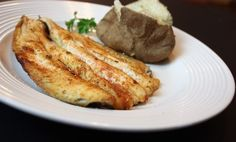 Baked fillet of trout