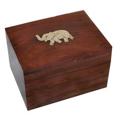 Girls Gift Rectangle Jewelry Boxes Brass Inlay Elephant Design: Amazon.co.uk: Kitchen & Home