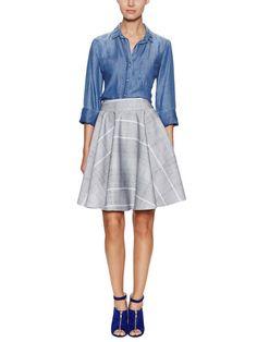 Printed Neoprene Circle Skirt