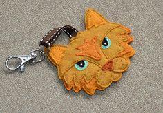Ginger Cat Nemez kulcstartó