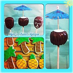 Hawaiian Luau cake pops and cookies. https://www.facebook.com/Kimssweetkarma