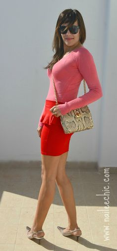 http://www.naileechic.com/milookbook/look-6-red-pink/ #fashionblogger #fashion #red #pink #mode