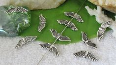 Antique Silver Angel Wing 21mm