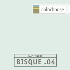 Colorhouse BISQUE .04 - A crisp winter breeze. White with blue undertones- this color whispers softly in bedrooms and baths.