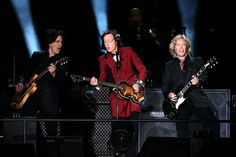 Paul McCartney, center, performs the final concert and public event at Candlestick Park in San Francisco, Calif., on Thursday, Aug. 14, 2014. (Ray Chavez/Bay Area News Group)