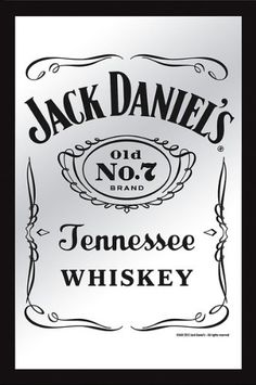 Jack Daniels - XL Bar Mirror (Classic Old No. 7 Logo) (Size: x Jack Daniels - XL Bar Mirror. Size: x The Frame of the mirror is made of plastic with a faux wood finish. Ship in sturdy cardboard packaging. Drive In, Jack Daniels Label, Jack Daniels Tattoo, Jack Daniels Decor, Jack Daniels Distillery, Etiquette Vintage, Born To Die, Label Templates, Cv Template