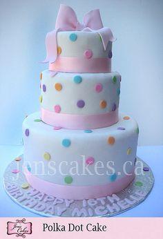 Polka_Dot_Cake by JensCakes.ca, via Flickr
