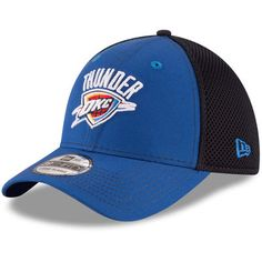info for d1e2f 2a2f7 Oklahoma City Thunder New Era Team Front Neo Tech 39THIRTY Flex Hat -  Blue Black