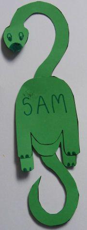 Cute Dino bookmark.