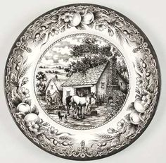 Manufacturer Royal Staffordshire Pattern Blacksmith S Forge Color Black White