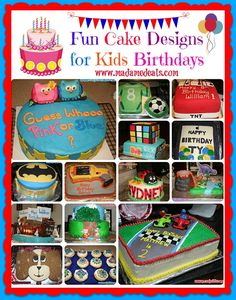Fun Cake Designs for Kids Birthdays #cake