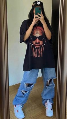 Swaggy Outfits, Baddie Outfits Casual, Swag Outfits For Girls, Indie Outfits, Teen Fashion Outfits, Retro Outfits, Cute Casual Outfits, Tomboy Fashion, Streetwear Fashion
