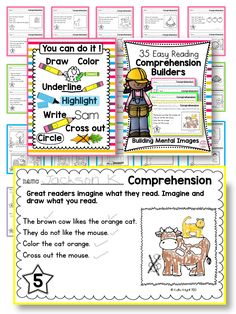 35 Comprehension Building activities that help kids read accurately and then visually build their mental images on paper. Are you ready for your students to become reading super stars? Me too! Let's do this!