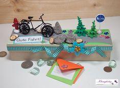 """Gutscheine - Fahrrad Box """"Gute Fahrt""""  für Geld oder Gutschein - ein Designerstück von Kleinigkeiten-von-NB bei DaWanda"""