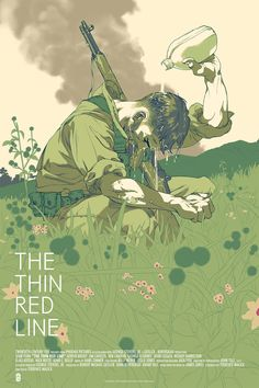"The Thin Red Line by Tomer Hanuka. 24""x36"" screen print. Hand numbered. Edition of 275. Printed by D&L Screenprinting. $45"