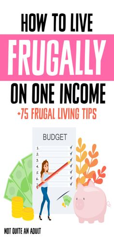 How to Live Frugally on One Income – Not Quite an Adult – Finance tips, saving money, budgeting planner Ways To Save Money, Money Tips, Money Saving Tips, Saving Ideas, Money Budget, Frugal Living Tips, Frugal Tips, Budgeting Finances, Budgeting Tips