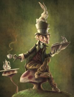 Is that you Alice? Alice in Wonderland. The Mad Hatter, the March Hare and the Dormouse Lewis Carroll, Tim Burton, Alice In Wonderland Pictures, Dormouse Alice In Wonderland, Chesire Cat, Were All Mad Here, Mad Hatter Tea, Mad Hatters, Adventures In Wonderland