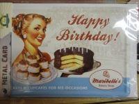 Peltikortti Happy birthday