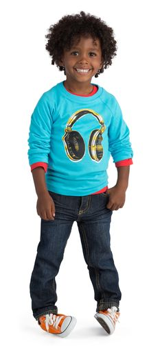 "What boy doesn't love electronics?  The headphones ""rock""!"