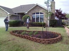 Front yard landscaping done by Brandon